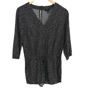 Banana Republic Black and White Polka Dot Romper